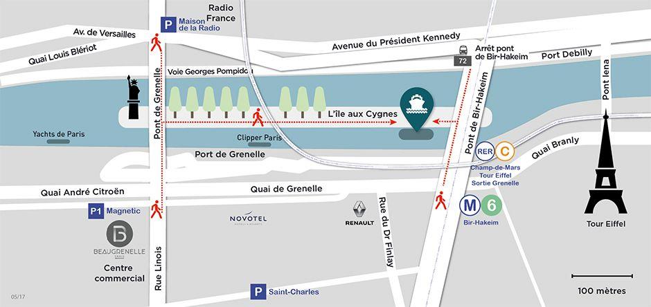 Paris en Scène, Embarquement Ile aux Cygnes