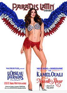 Affiche de la Nouvelle Revue L'Oiseau Paradis au cabaret Paradis Latin