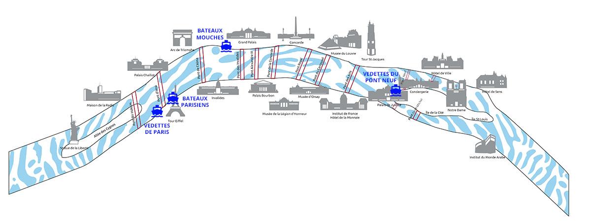 Plan de bateau mouche